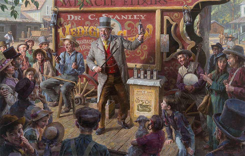 no money down - snake oil salesman