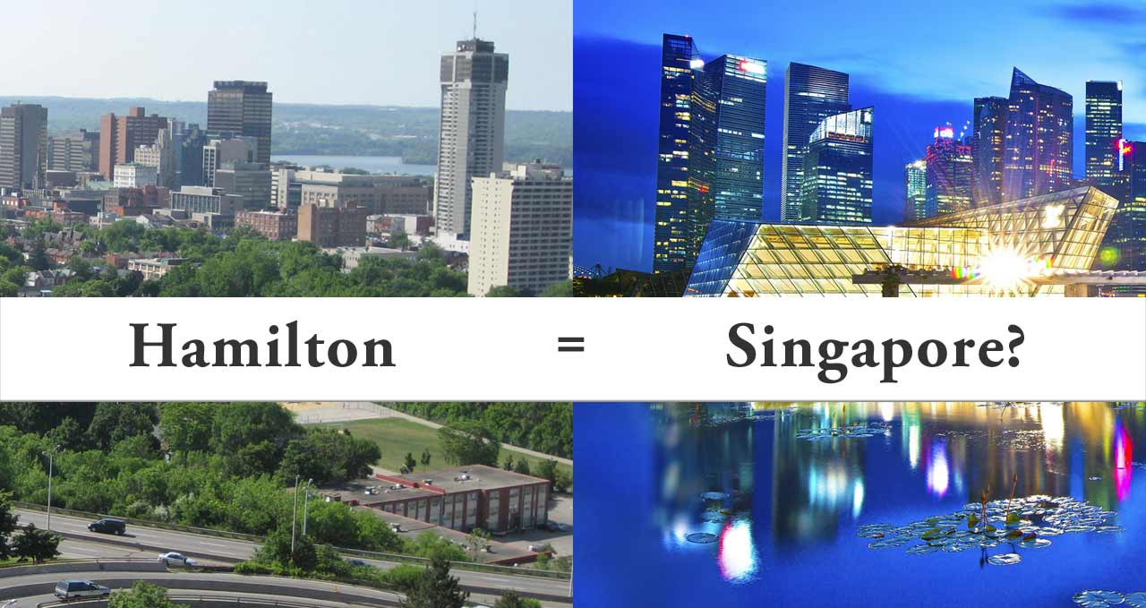 Demographia ranks Hamilton, Ontario and Singapore as equal in affordability