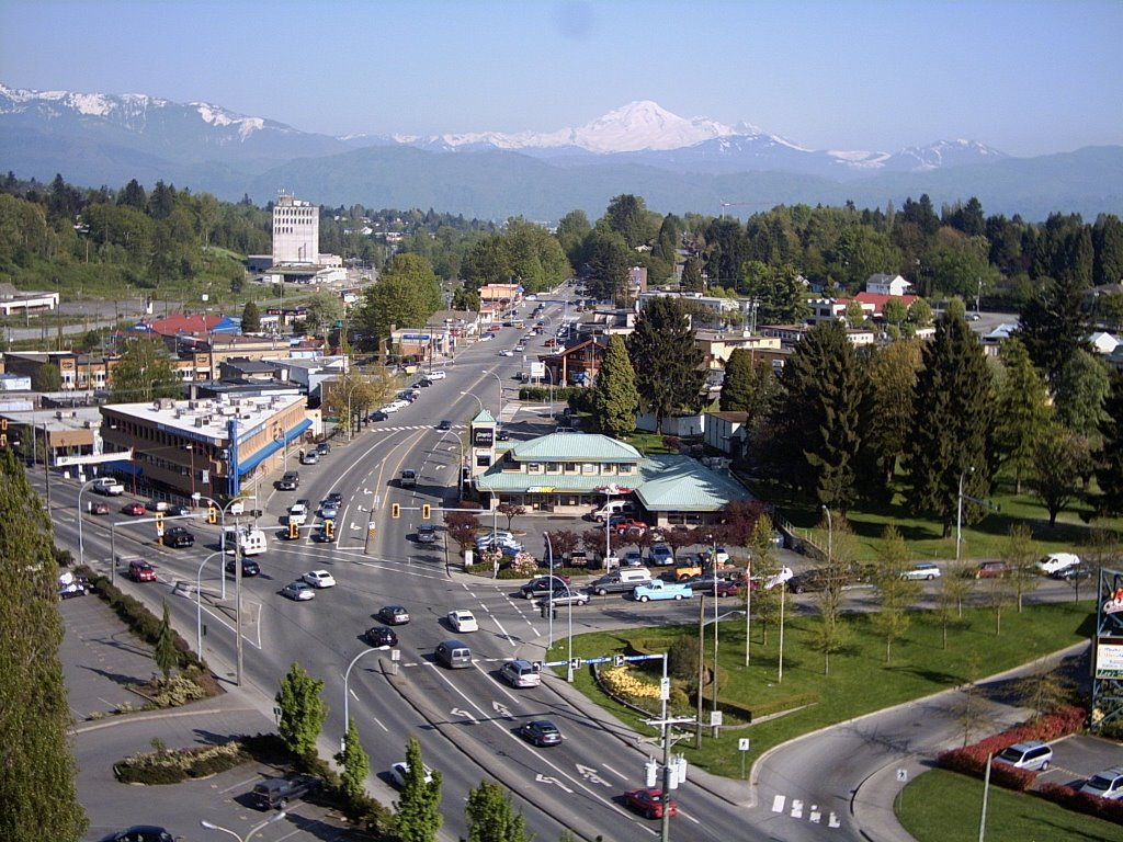 Historic Downtown Abbotsford, BC w/ Mt Baker in the back drop