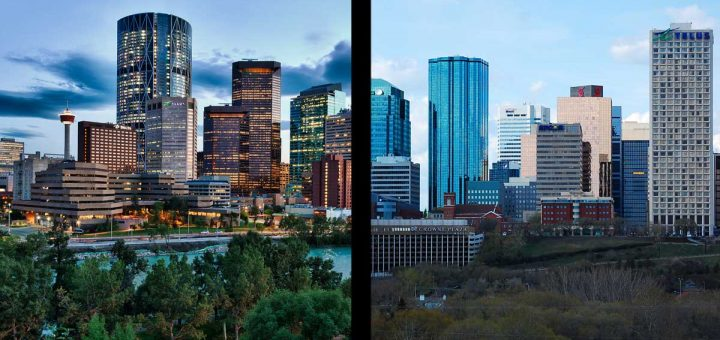 Calgary and Edmonton