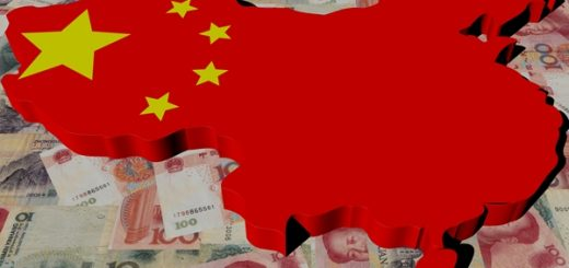 China Map flag on Yuan illustration